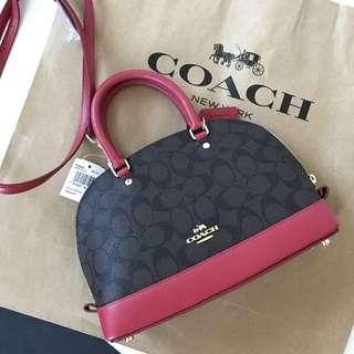 Coach Mini Sierra In Crossgrain Leather