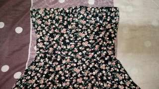 Backless Floral Tube Top