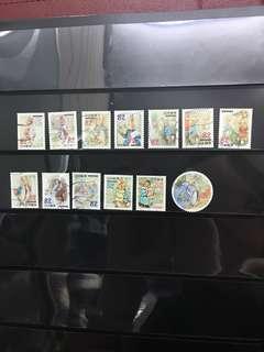 日本比得兔信銷郵票(已使用)