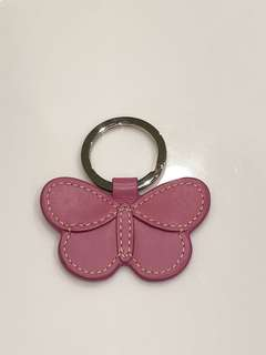 Authentic Coach Leather Butterfly Keychain