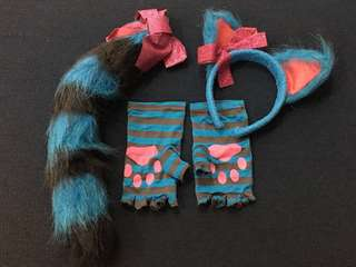 Cat Costume Accessories (headband, gloves, tail)