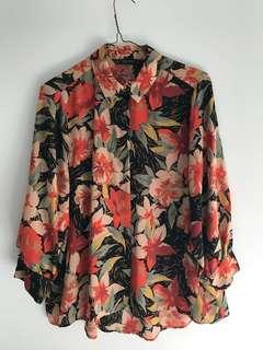 ZARA Floral Blouse - M