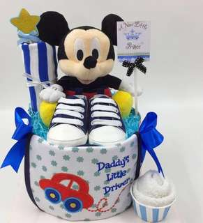 Baby Diaper Cake (Ready Stock) - Authentic Micky Mouse