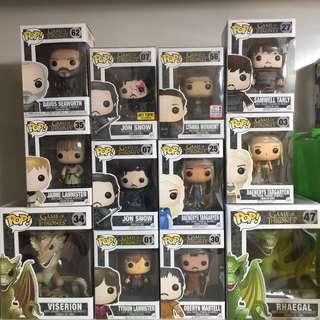 Game of Thrones Funko Pop Lot