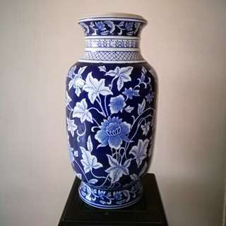 Antique Blue Porcelain Vase