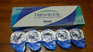 Freshlook pure hazel contact lens 350degrees