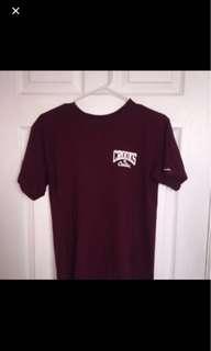 Crooks & castles burgundy shirt
