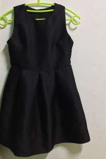 Little black dress in circle skirt