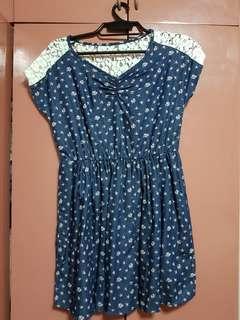 Denim Lace Dress