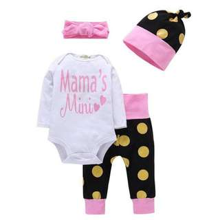 Mama's Mini Baby Girl Set