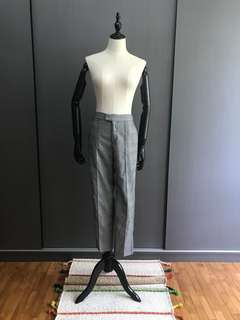 EXHIBIT Checked Cropped Cigarette Pants