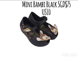 Mini Melissa Bambi Black 💯Authentkc