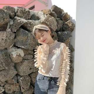 Chloe velvet lace top