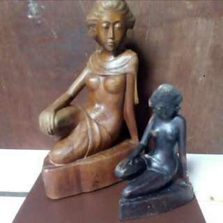 Patung asli bali kayu jati