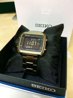 SEIKO  (絕版金)光動能 電子錶