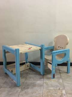 Kids study table set with drawer