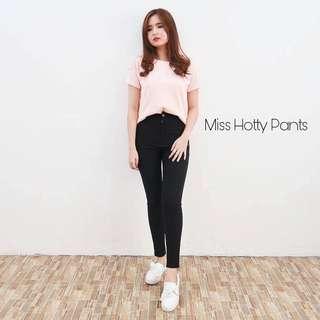 MISS HOTTY PANTS BLACK SIZE 27