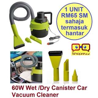 12V 60W Wet /Dry Canister Car Vacuum Cleaner
