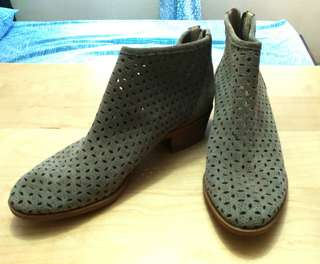 Gray breathable booties
