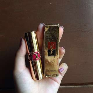 [REPRICE] YSL rogue valupté silky lipstick shade 8 Rose Fetiche (Fetish Pink)
