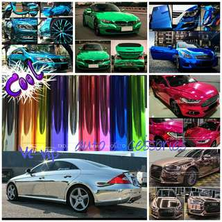 Chrome vunyl car wrap sticker 10cm x 152cm