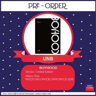 (PRE-ORDER) UNB - BOYHOOD (LIMITED EDITION)