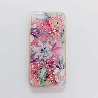 Floral Phone Case Glitter Liquid Iphone 6/6s