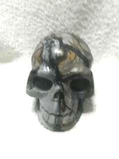 🚚 (24% Off) 4-in Hand Carved Natural Semiprecious Stones Skeleton Skulls #Caroupay 手工雕刻的半宝石骷髅头