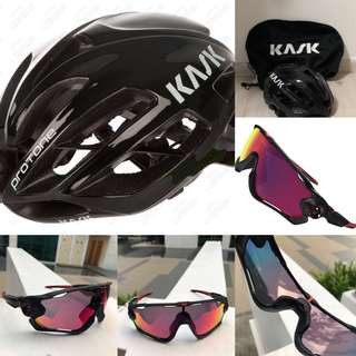 Kask and oakley and other bike parts for sale