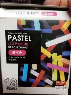 Pastel18 color  Daiso