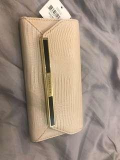 Anne Klein wallet croc embossed long wallet
