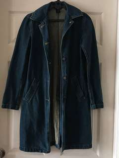 BCBG Denim Trench Coat