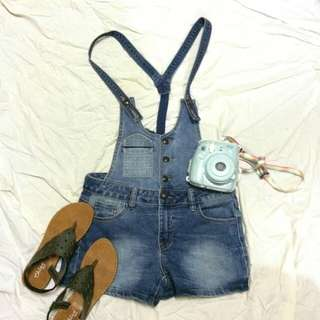 Denim jumper short
