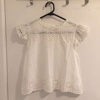Baby doll short sleeve blouse