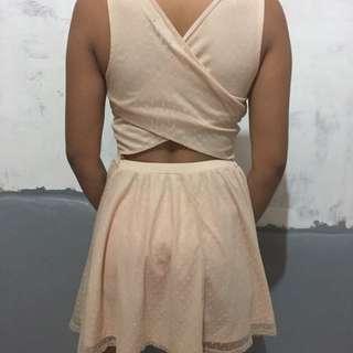 Peach sexy dress