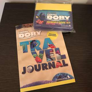 Singapore Airlines - Disney Pixar Finding Dory Memory Game Kit and Travel Journal (2 Items)