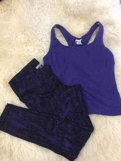 gym/sports/active wear set