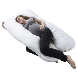 PRE-ORDER: Pregnancy Pillow, Full Body Maternity Pillow with Contoured U-Shape by Bluestone, Back Support