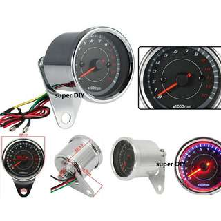 Digital 13K RPM meter LED Light universal Motor speedometer