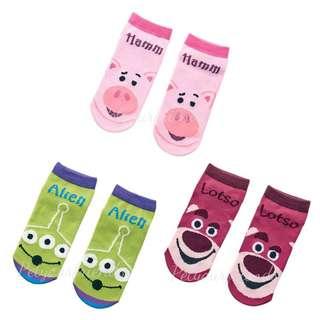 日本迪士尼代購 Toy Story Hamm Alien Lotso socks 船襪