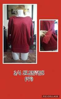 3/4 sleeves
