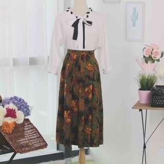 🍿 Vintage Midi Skirt VS1083