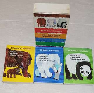 Eric Carle Brown Bear and friends Board Book Set