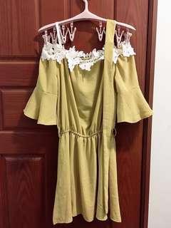Popcorn 平口洋裝