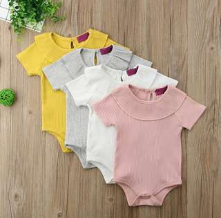 🍀Baby Girl Summer Short Sleeve Cotton Casual Romper🍀