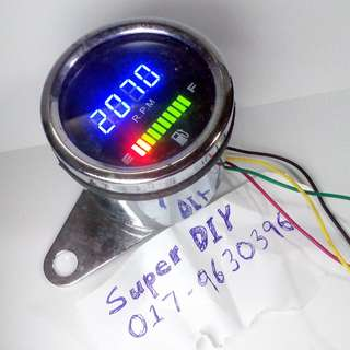 Universal Motor Digital Rpm Petro meter LED Light
