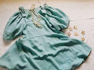Honey Bunch Teal dress