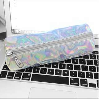 #055 holographic pencil case