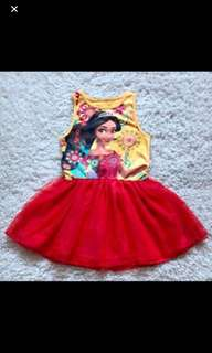 PO Elena of avalor dress brand new size for 2-7yrs old
