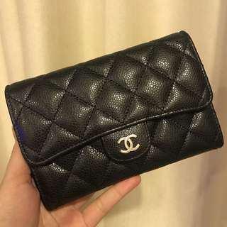 Chanel Medium Flap Wallet Caviar SHW